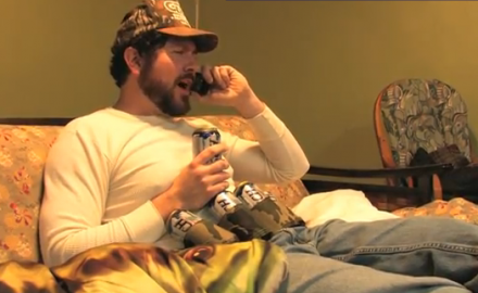 Redneck on phone