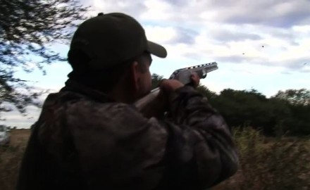 Greg Rodriguez in Argentina with a hot shotgun barrel.