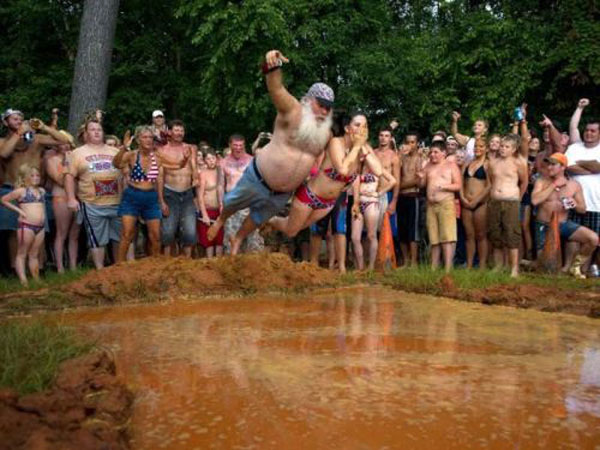 Swan Dive at the Redneck Olympics