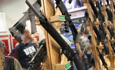 The refusal to allow ARs—like the ones shown here at the 2013 SHOT Show earlier this month—forced many vendors to pull out of the Eastern Sports and Outdoor Show.