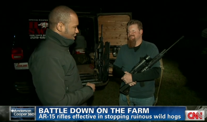 Read & React: CNN Examines Using ARs for Hog Hunting