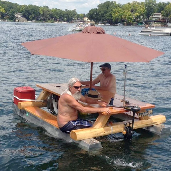 Awesome Redneck Moment: The Redneck Pontoon Picnic Table ...