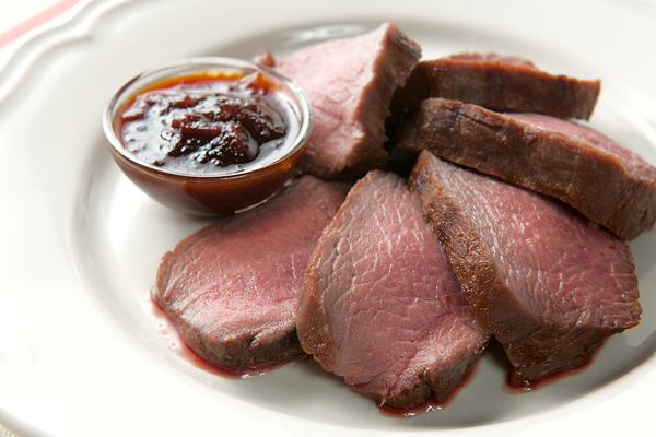 A thick venison steak, grilled to a turn and flavored only with fire and salt, is quite possibly