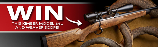 Win this KImber Model 84L and Weaver Scope