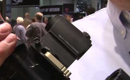 Aimpoint was at the 2014 SHOT Show in Las Vegas to show off the Aimpoint Micro sight. The Micro