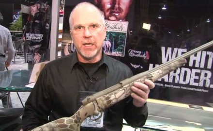 Weatherby was at the 2014 SHOT Show in Las Vegas to showcase its new Mark V Accumark  Weatherby