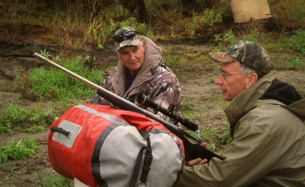 Jim Bequette and Ron Coburn of Savage are in Alaska for Yukon moose.  Before they can hunt, they