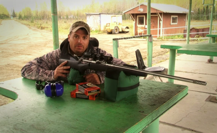 Petersen's Hunting Editor Mike Schoby tests out the Savage Arms 116 in .338 Winchester Magnum; used