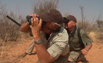 Kevin Steele and Bernhard Knobel of Blaser are hot on the trail of a big eland bull.