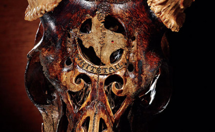 Seth O'Hara Bellamy's skull art isn't created using lasers or advanced machinery. It's much simpler