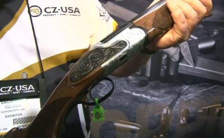 CZ was at the 2015 SHOT Show in Las Vegas to introduce its newest shotgun, the Wingshooter