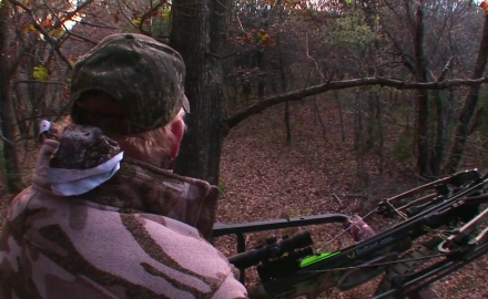 Craig Boddington hunts whitetails with a crossbow in Kansas. Finding a big buck is the goal, but