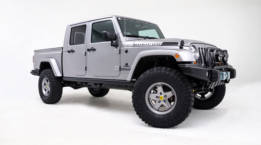 This Brute started off life as a standard Jeep Wrangler Unlimited JK