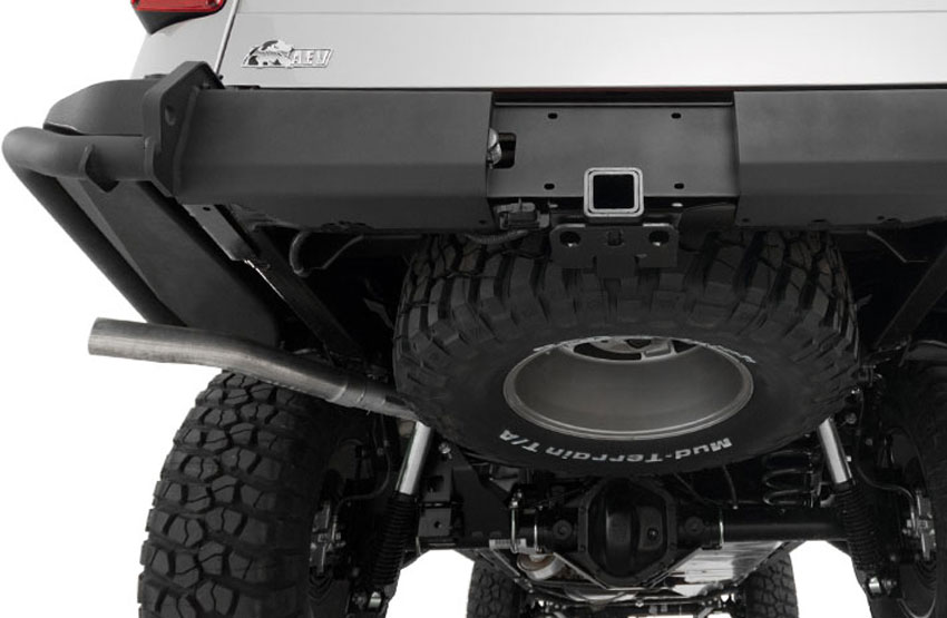 Tucked below the Brute's bed is a hidden Under Mount Tire Carrier to securely hold your spare tire. A hand operated winch allows for easy lowering and removal of the spare tire, should you need to use it.