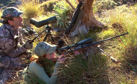 Brittany Boddington arrives in the New Zealand highlands armed with a rifle in search of a trophy