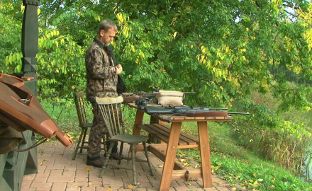 Kevin Steele arrives in Hungary and gets geared up for hunting giant fallow deer.