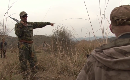 Craig Boddington and his guides take some time to hunt birds in Pakistan's Indus River Valley.