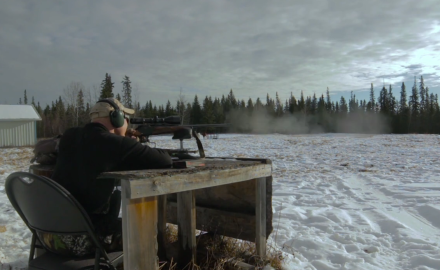 Craig Boddington gets his gear and himself situated for an Alberta Moose hunt.