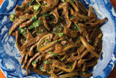 Heart meat works really well with Chinese stir-fry because it's dense enough to slice into