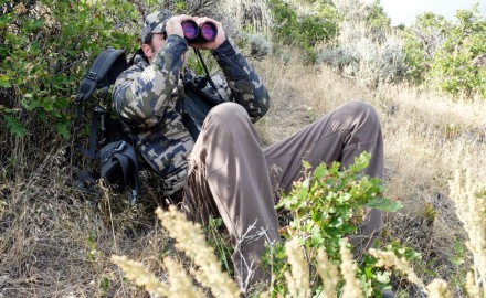 The Zeiss 10x56mm Victory rangefinding binoculars were a great asset on both hunts.