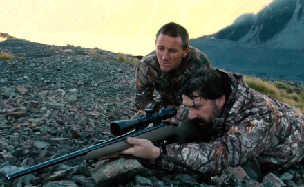 Kevin Steele, Tom Rice and Jason Morton of Petersen's Hunting are hunting New Zealand Tahr and the