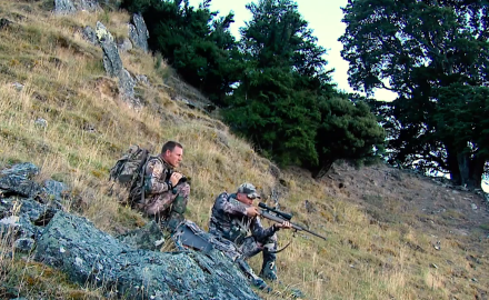 Kevin Steele, Jason Morton and Tom Rice are in New Zealand on the hunt for red stag.