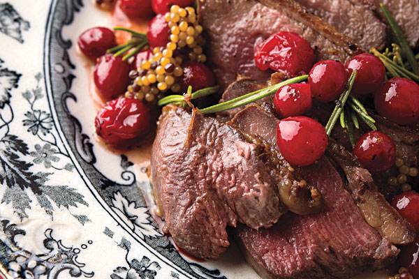 Goose Breast With Cranberries Recipe
