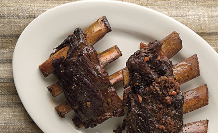 This is an adaptation of a wonderful Italian short ribs recipe in a wonderful book, Paul Bertolli's