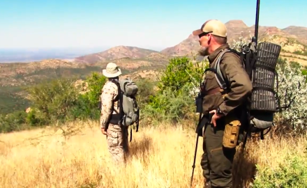 Kyle Lamb is hunting kudu and zebra in Namibia and he's doing it the hard way --
