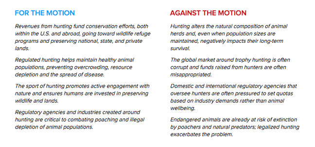 Live Debate: Are Hunters Conservationists?