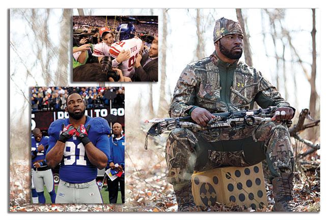 Justin-Tuck-NFL-bowhunting