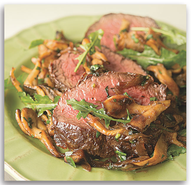 Venison Backstrap with Caramelized Onions and Mushrooms Recipe