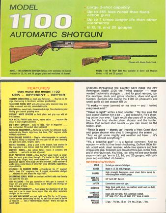 Remington Timeline: 1963 - Remington Model 1100 Autoloading
