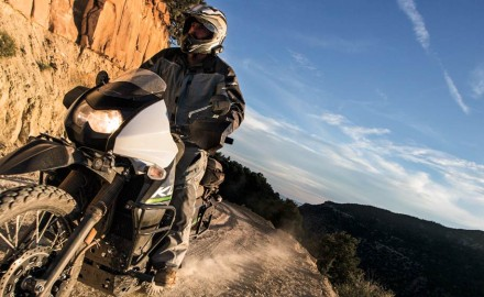 When I arrived at the hotel in Salt Lake City, a fleet of KLR650s were being unloaded off the