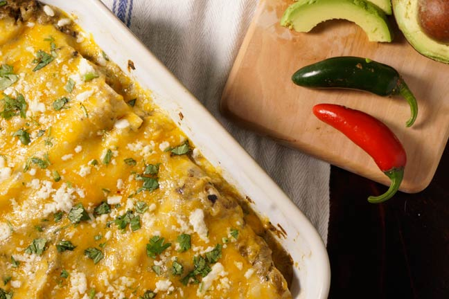 green-chile-pheasant-enchiladas