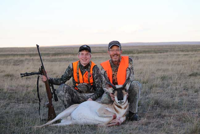 The vast plains of the Missouri River Country hold good numbers of pronghorn with some excellent trophies available. Credit: Photo Courtesy Missouri River Country