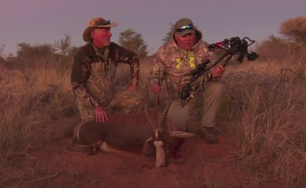 Jim McConville is in Africa with Kevin Steele hunting in the Kalahari Desert. Jim reaches for his