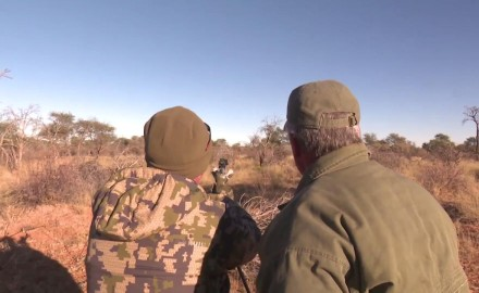 Kevin Steele and Tony Miele from Smith and Wesson's Performance Center are hunting the African