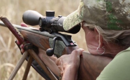 Craig and Donna Boddington are hunting plains game in Mozambique and Donna is on the clock with an