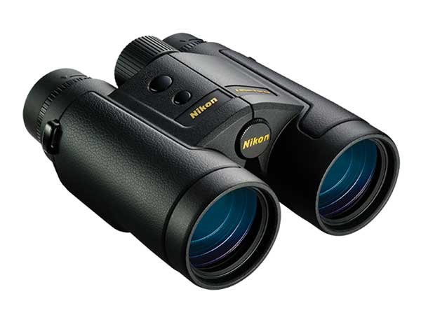 Nikon's LaserForce binoculars have built-in range-finding technology, which saves weight and adds convenience because you don't need to carry a separate rangefinder.