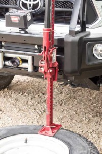18) Jack up against the bumper and the tool will  force the bead free.