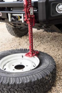 16) A Hi-Lift or bottle jack can be used to break a bead.