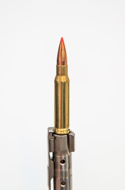 Kimber's extractor grips the rim of the cartridge case securely offering simple and reliable case extraction. Gas ports on the bottom of the bolt keep the shooter safe in the event of a case failure.