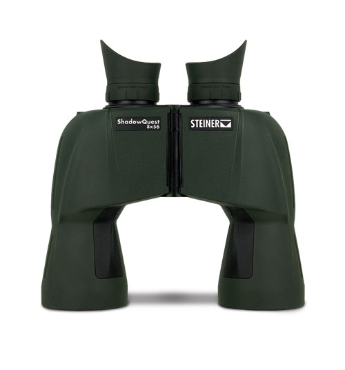 8-Power binoculars are easy to hand hold and minimize hand-shake, even in the wind. Large, 56mm objective lenses offer a wide field of view and excellent light-gathering capability.