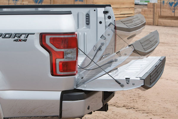 Ford also offers an available remote tailgate release to help ease loading your gear when your arms are full.
