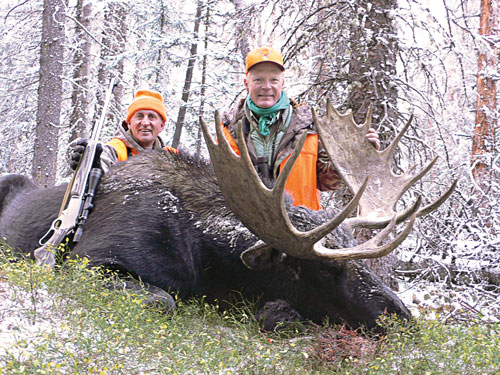 It takes patience, but some of the best opportunities for moose lie in permit draws. Boddington drew a tag for this Colorado bull in 2009.