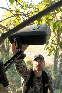 The Ozonics HR-200 and HR-300 are designed to hang above your treestand and cover your scent with ozone, a gas molecule that eliminates smell.