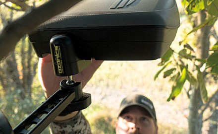 The Ozonics HR-200 and HR-300 are designed to hang above your treestand and cover your scent with