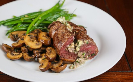 Blue Cheese-Herb Stuffed Elk Tenderloin Recipe