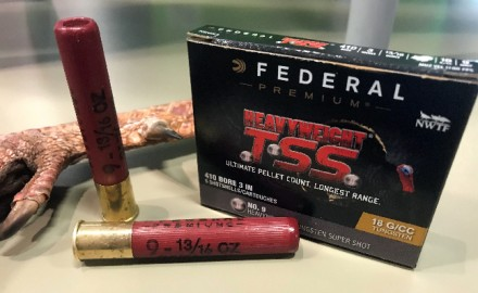 With new loads like Federal Premium's Heavyweight TSS in #9 shot, the right .410 shotgun can